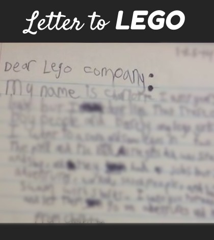 Letter to LEGO
