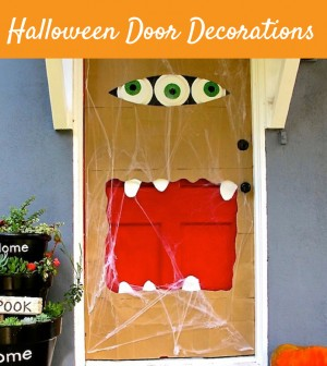 cool door decorations. Cool Halloween Door Decorations You Can Do With Your Kids - Teach Child O